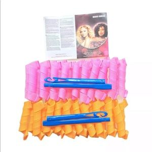40PCS Long Hair Curlers Formers Spiral Ringlets